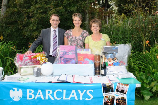Barclays team supporting our Wine Tasting through staff volunteering and Matched Giving Scheme