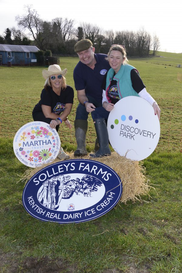 Ripple Solleys Ice Cream Parlour Martha Trust Prom supporters Kerry Rubins,Solleys Ice Creams Keith Morrison and Kimberley Anderson from Discovery Park getting in the Party mood for the Prom Picture: Paul Amos FM5056555