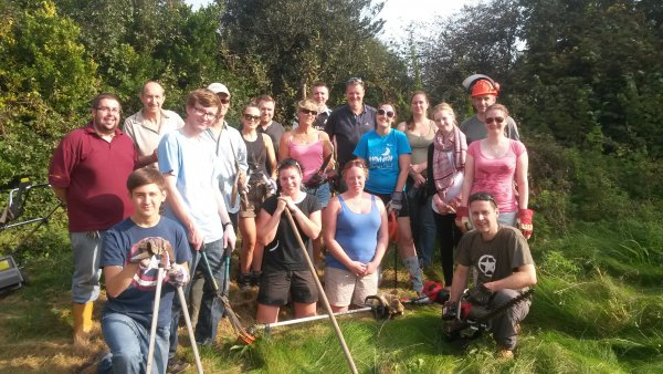 Pfizer volunteering at our homes in Deal
