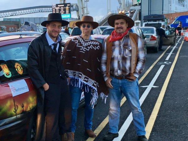 Derek, Alex & Gerard at ferry terminal