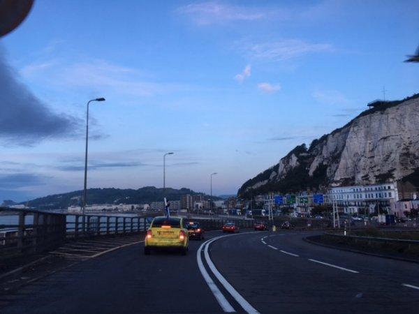 cars driving into Monte Carlo in the dark 1